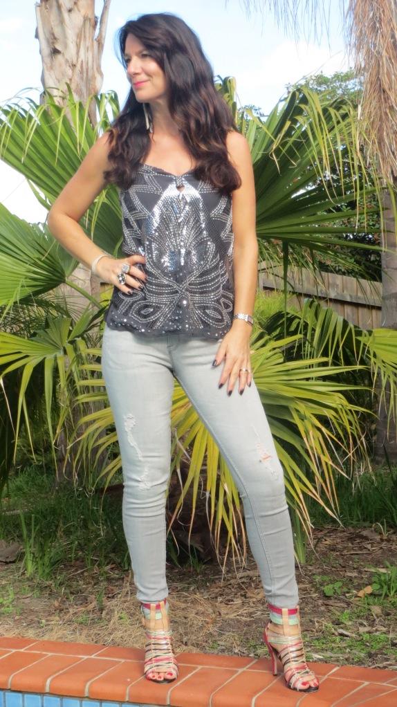 Zara grey jeans 1