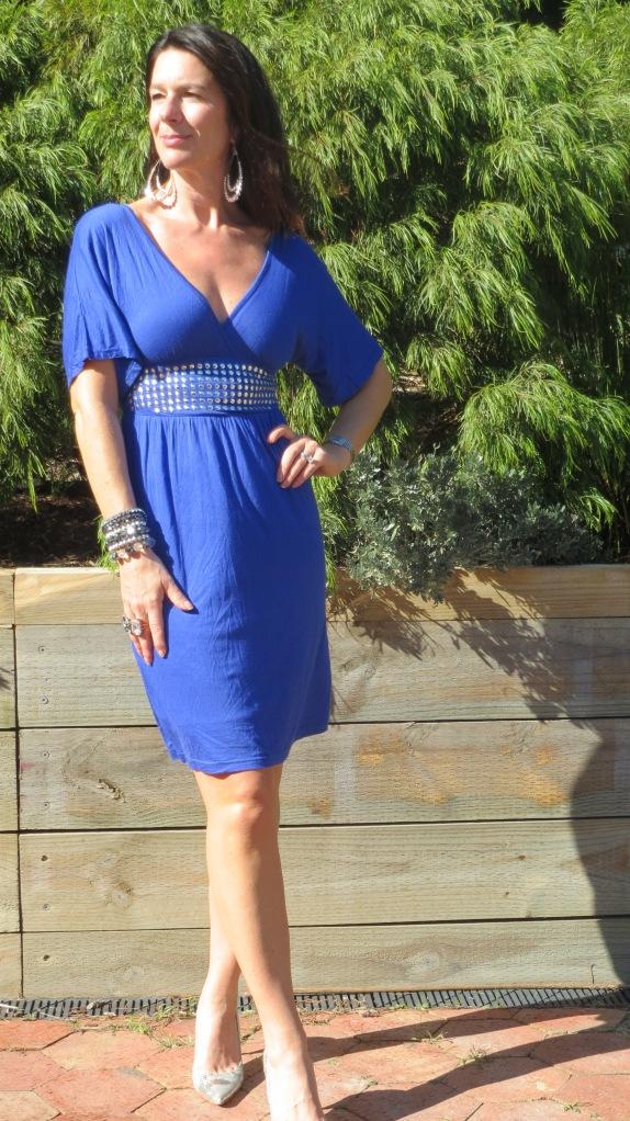 Blue stud dress 1