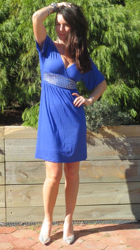 Blue stud dress 2