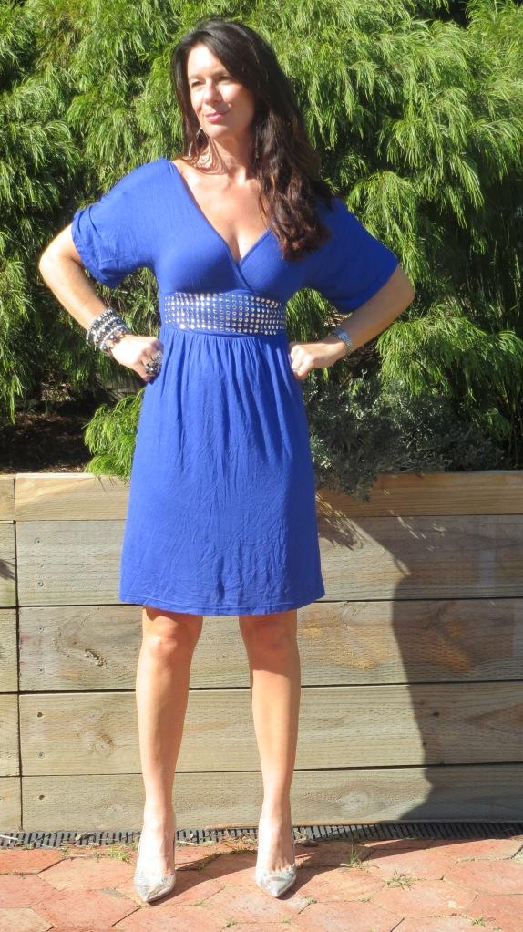 Blue stud dress 3