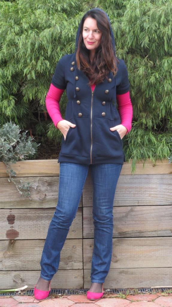 Blue Valleygirl long vest 1