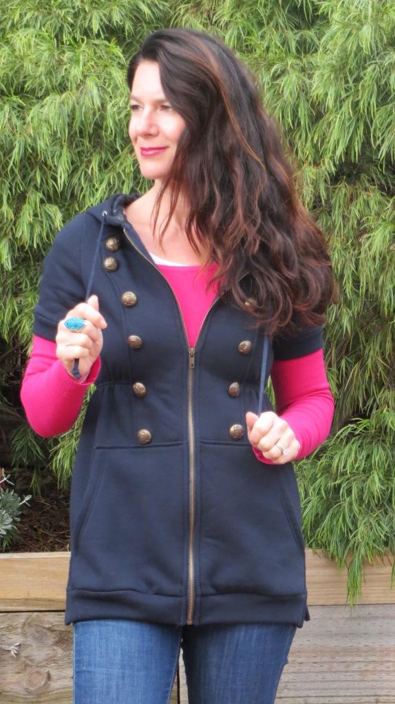 Blue Valleygirl long vest 4