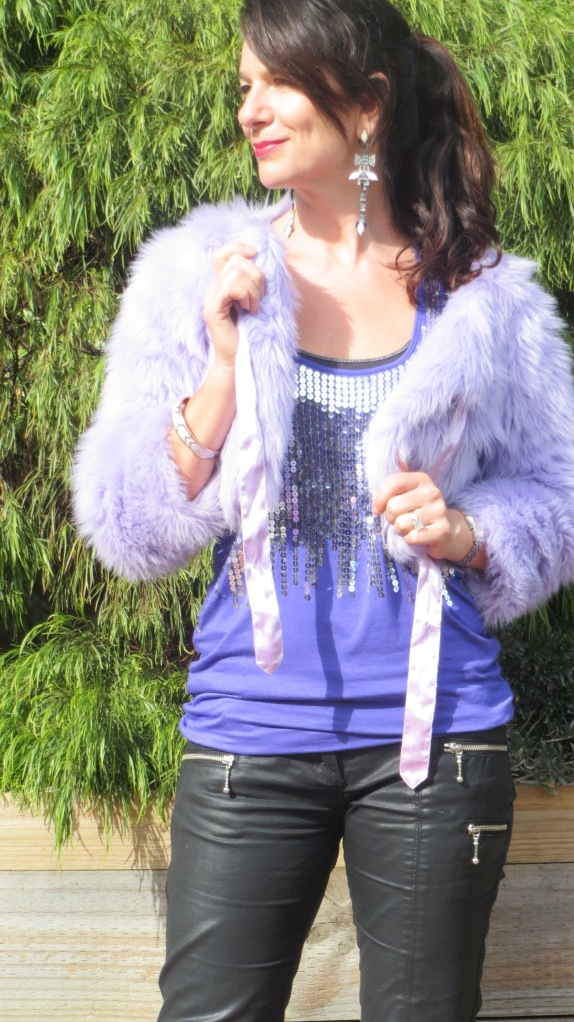 Purple sequinned singlet 5