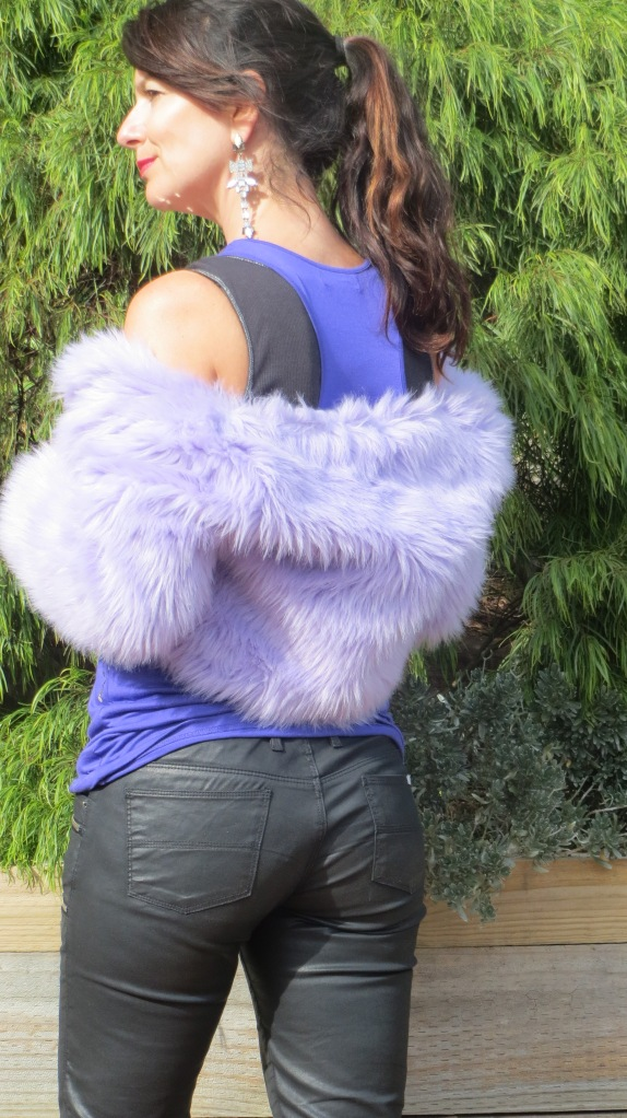 Purple sequinned singlet 6