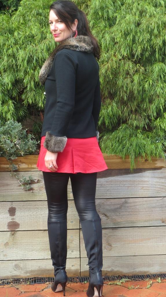 Red mini skirt 2