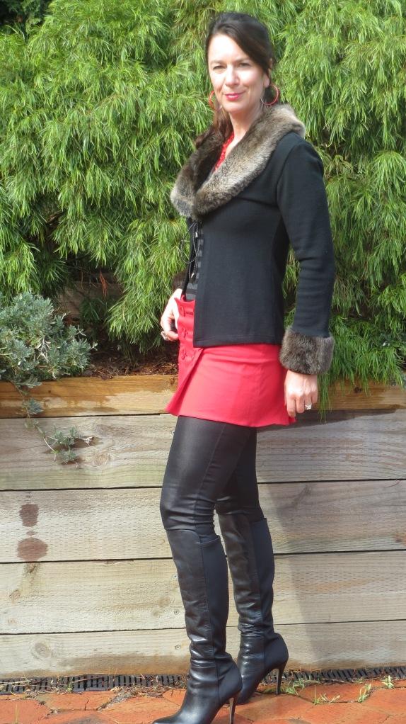 Red mini skirt 3
