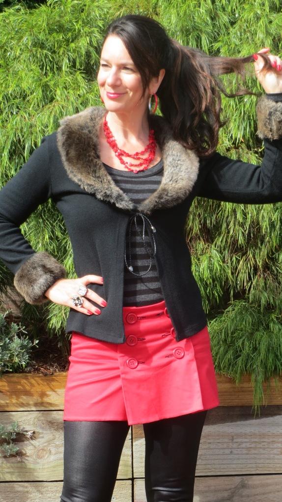 Red mini skirt 5