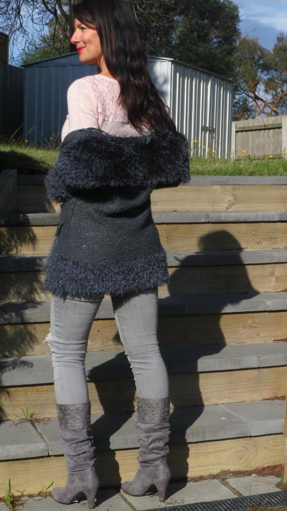 Zara jeans, knit jacket 2