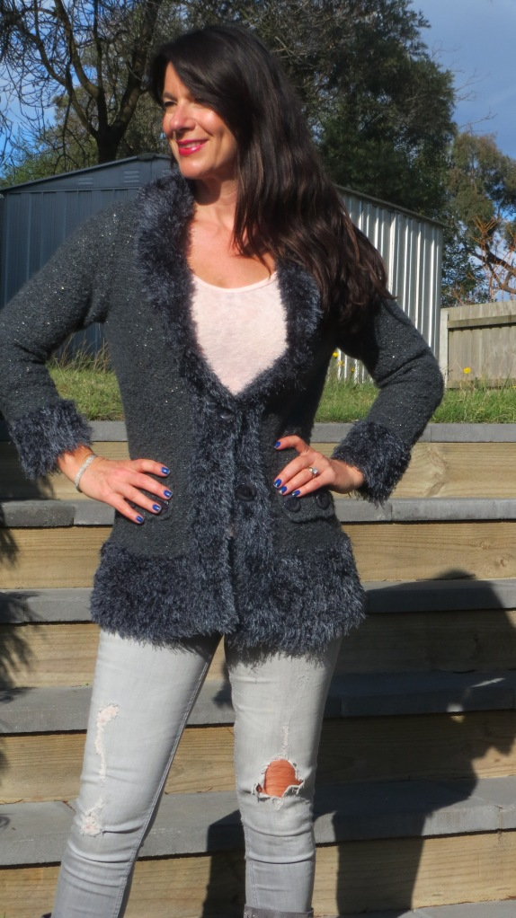 Zara jeans, knit jacket 5