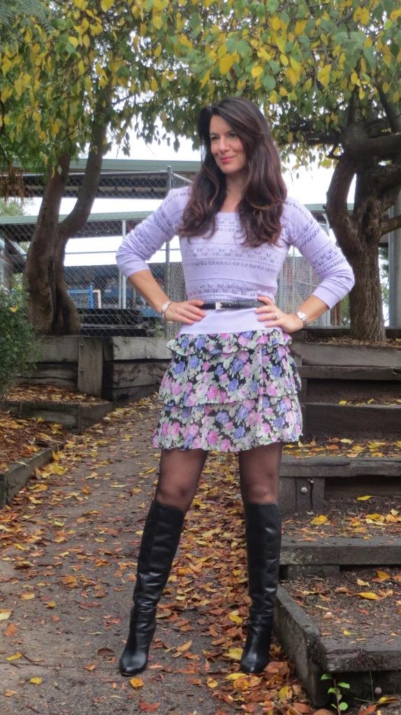 Floral ruffle dress 1