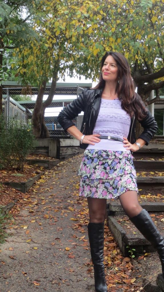Floral ruffle dress 2
