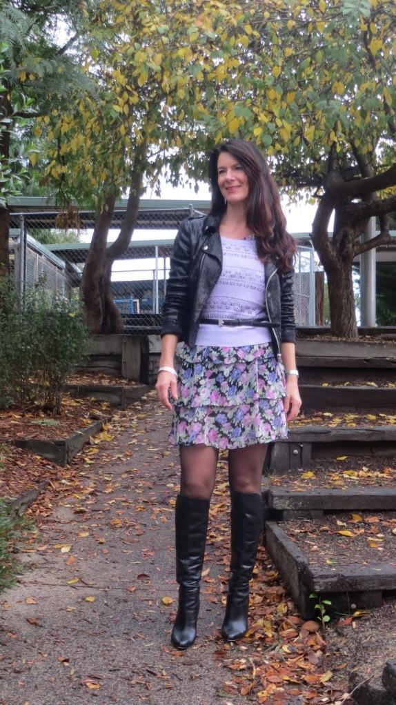 Floral ruffle dress 4