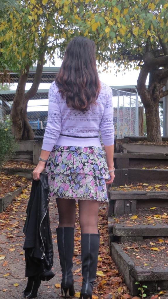Floral ruffle dress 5
