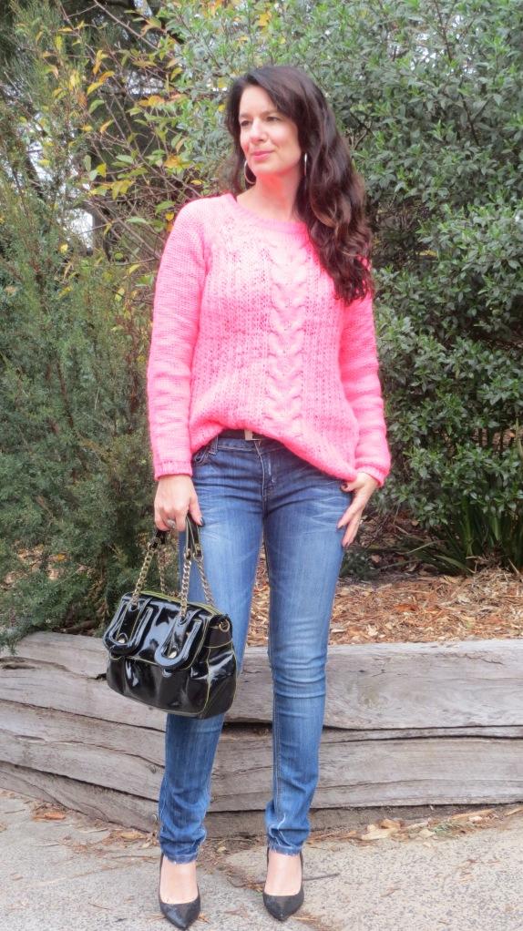 Fluro pink jumper 1