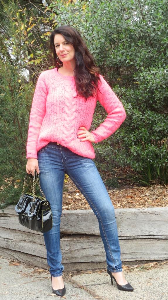 Fluro pink jumper 3
