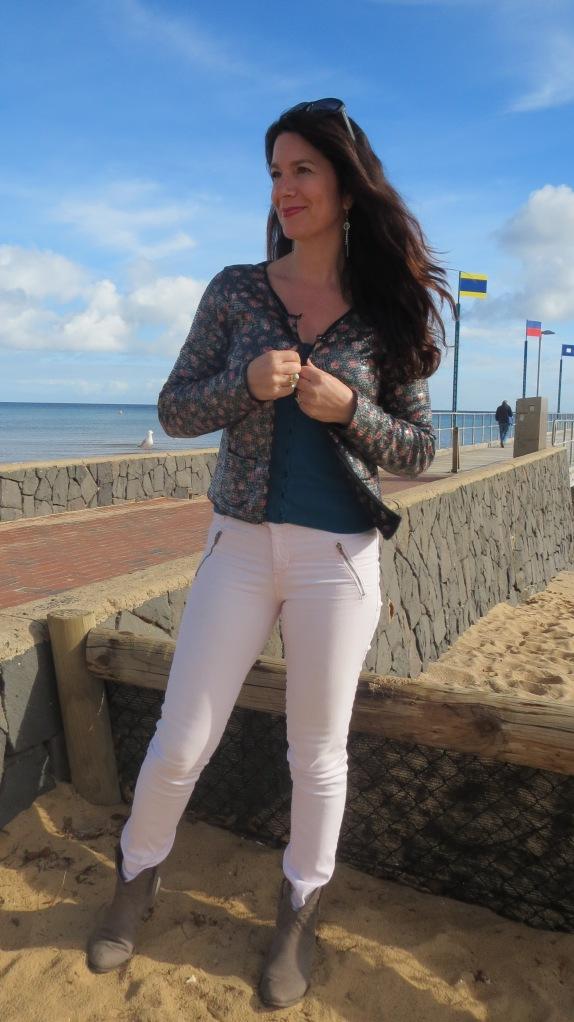Pink jeans, sequin jkt 2