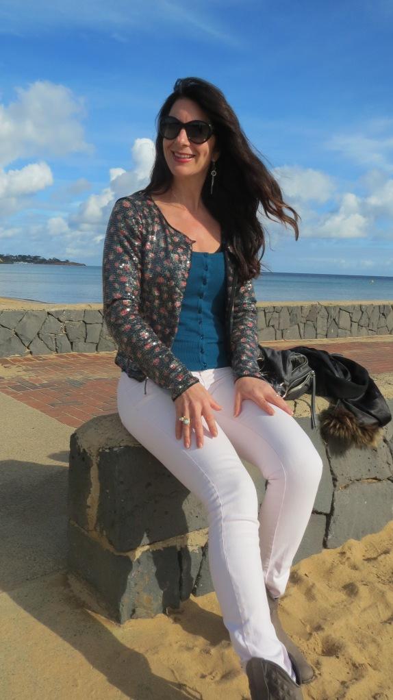 Pink jeans, sequin jkt 3