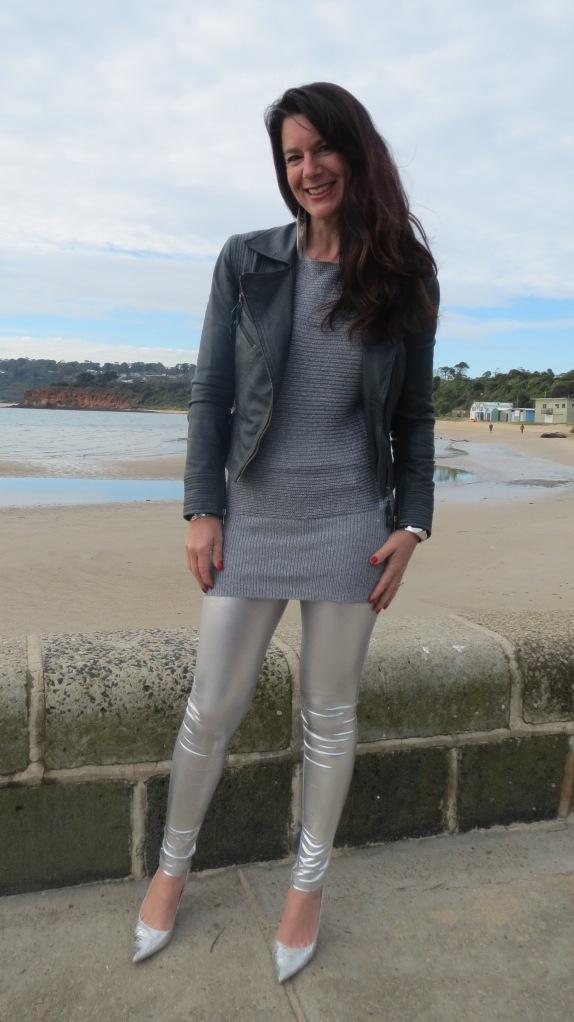 Silver leggings 2