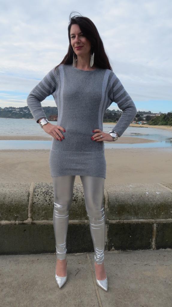 Silver leggings 3
