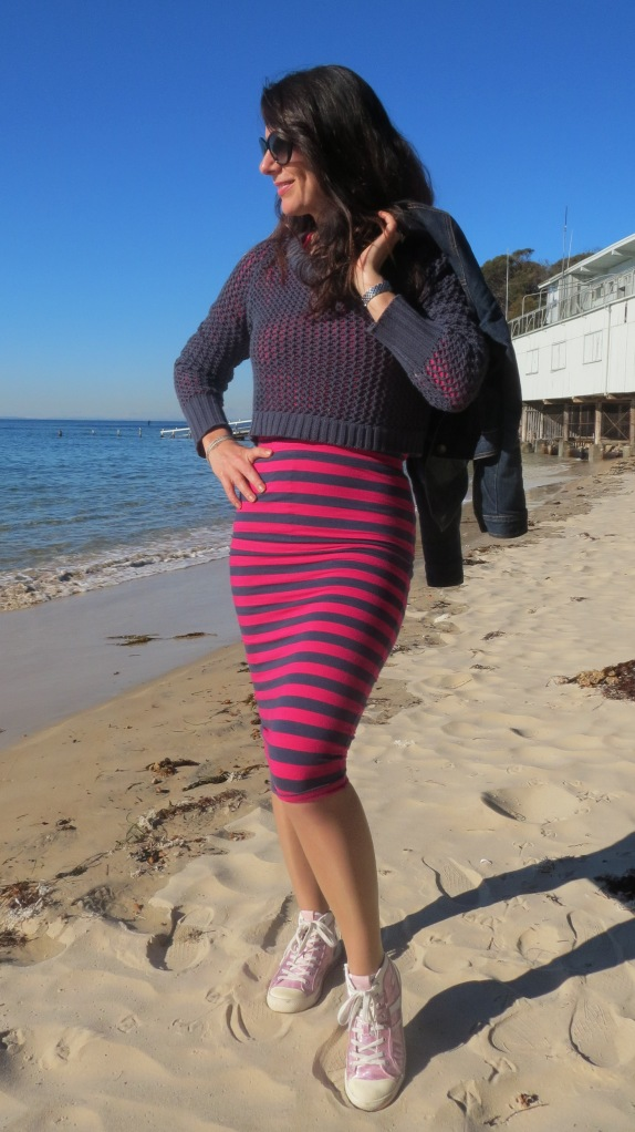 Stripe sportsgirl skirt 1