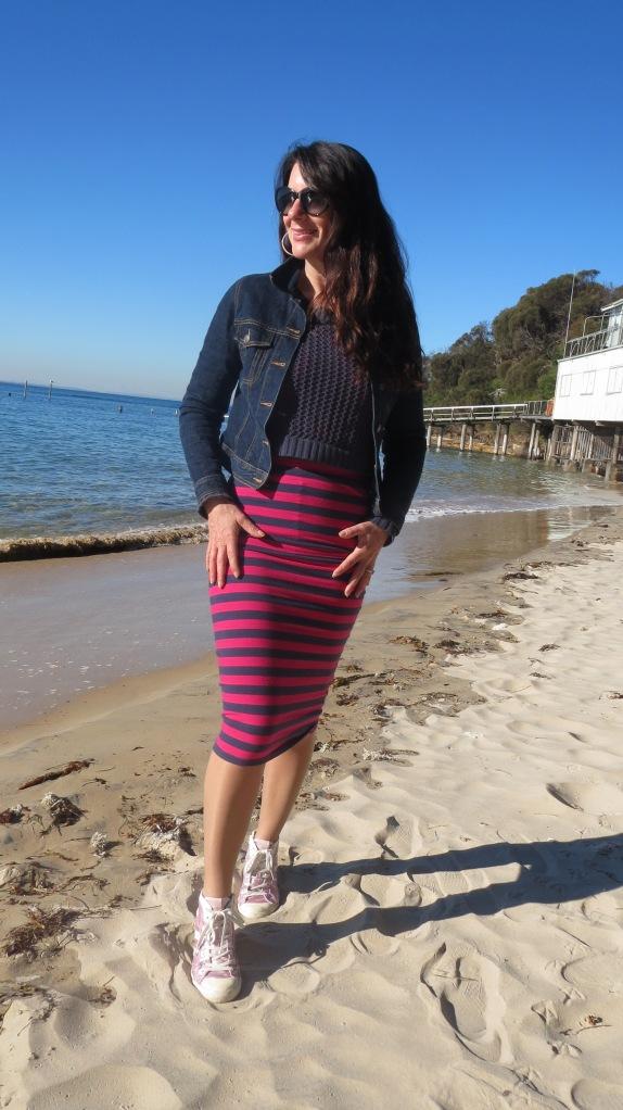 Stripe sportsgirl skirt 2
