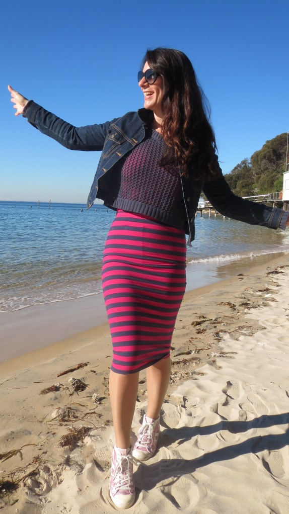 Stripe sportsgirl skirt 3