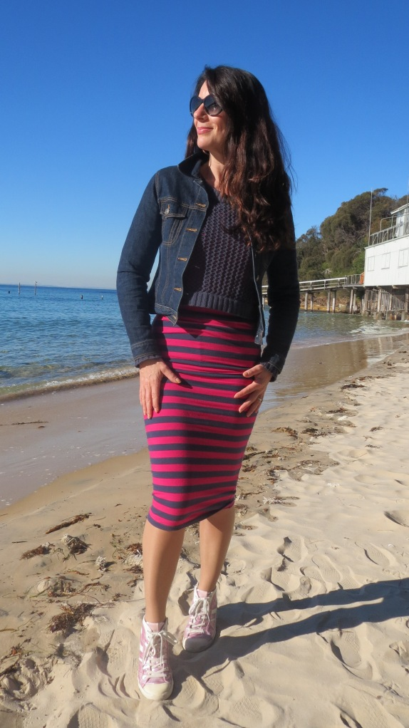 Stripe sportsgirl skirt 4