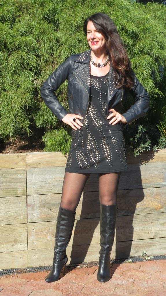 Black stud dress 1