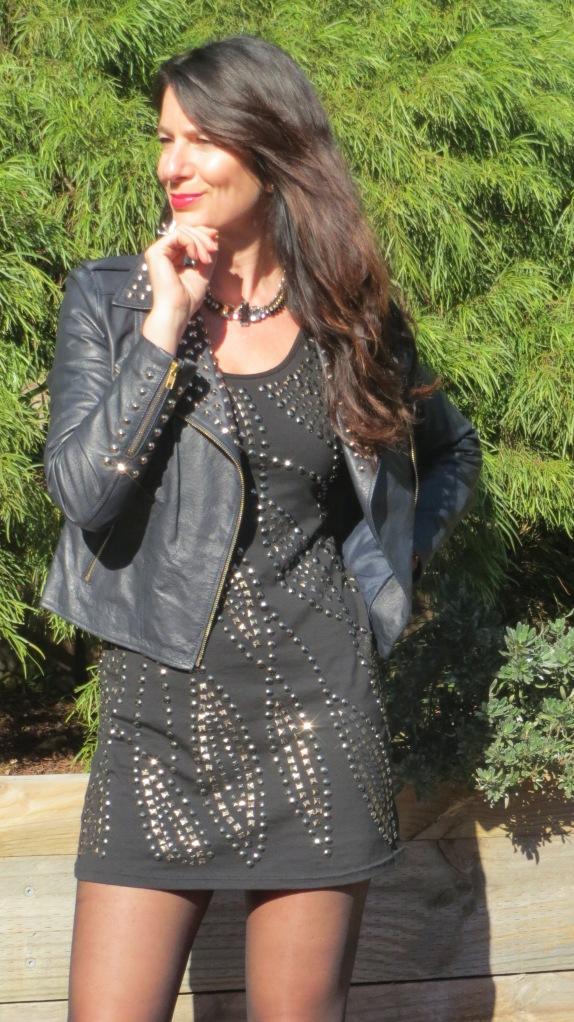 Black stud dress 2