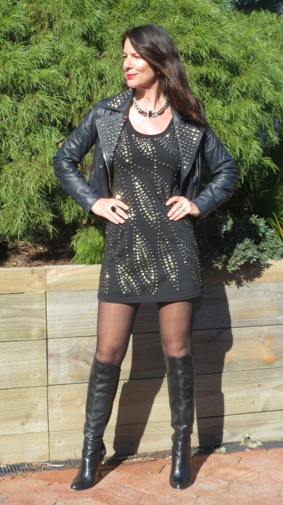 Black stud dress 3