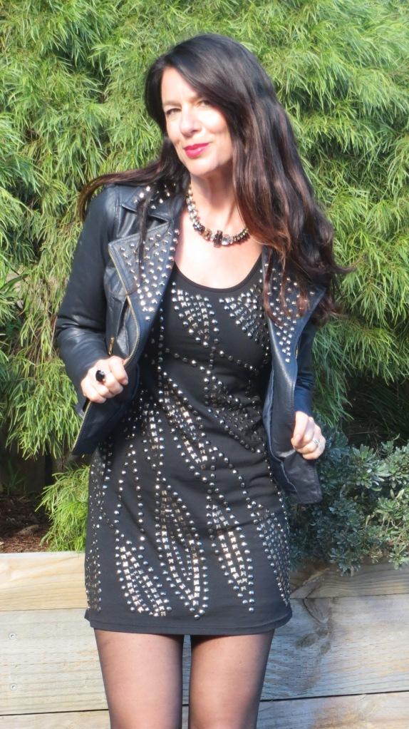 Black stud dress 4