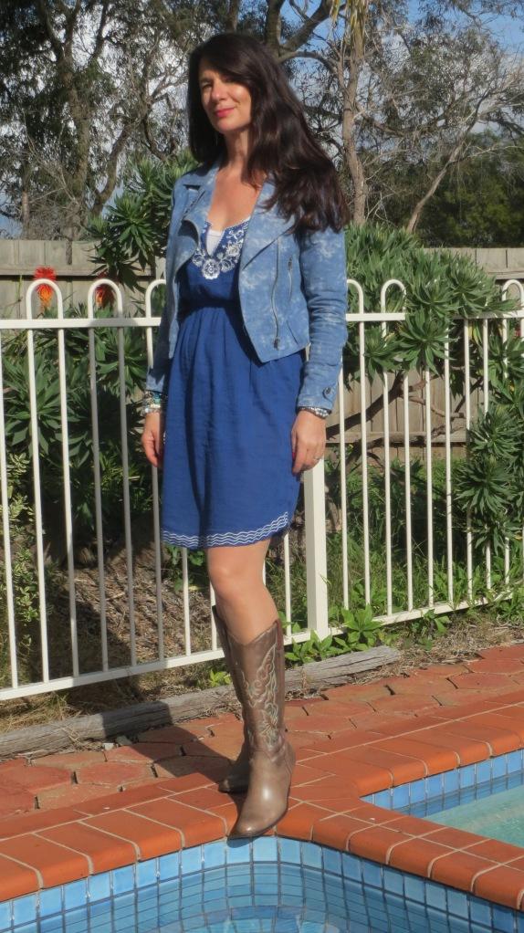 Blue sun dress 1