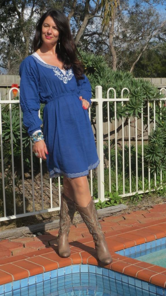 Blue sun dress 2