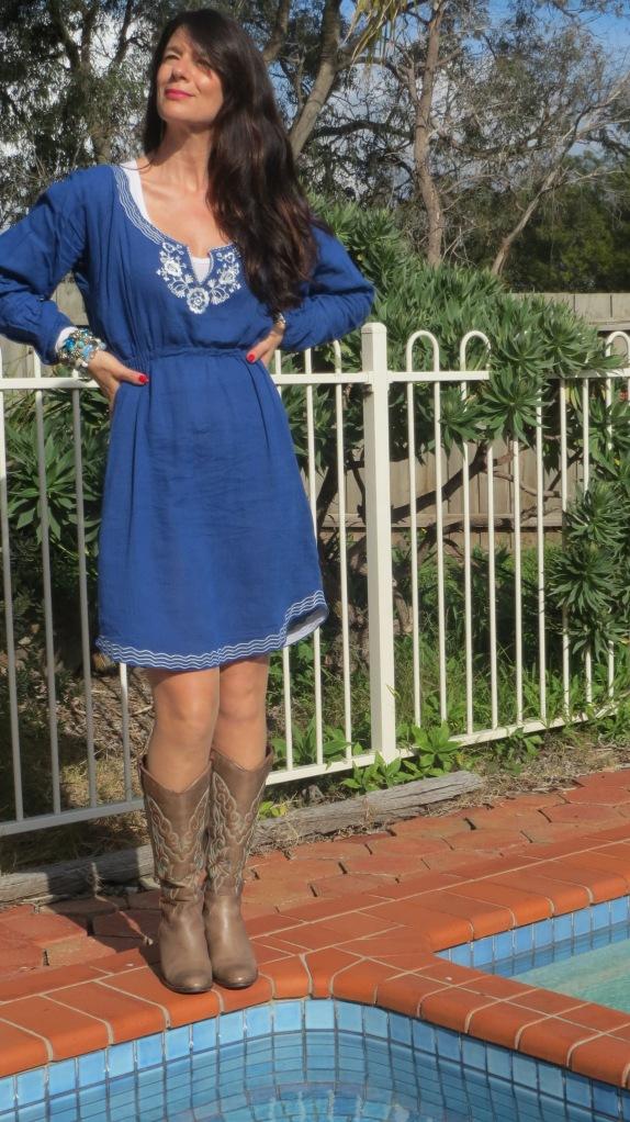 Blue sun dress 4