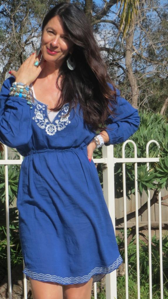Blue sun dress 5