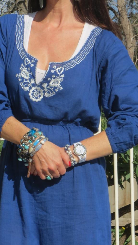 Blue sun dress 6