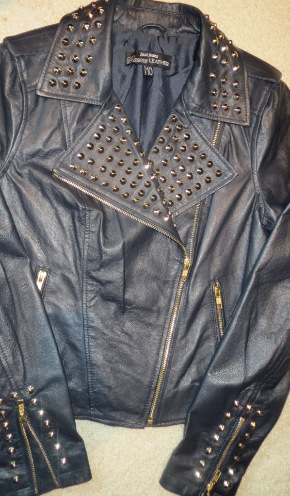 Leather stud jkt 1