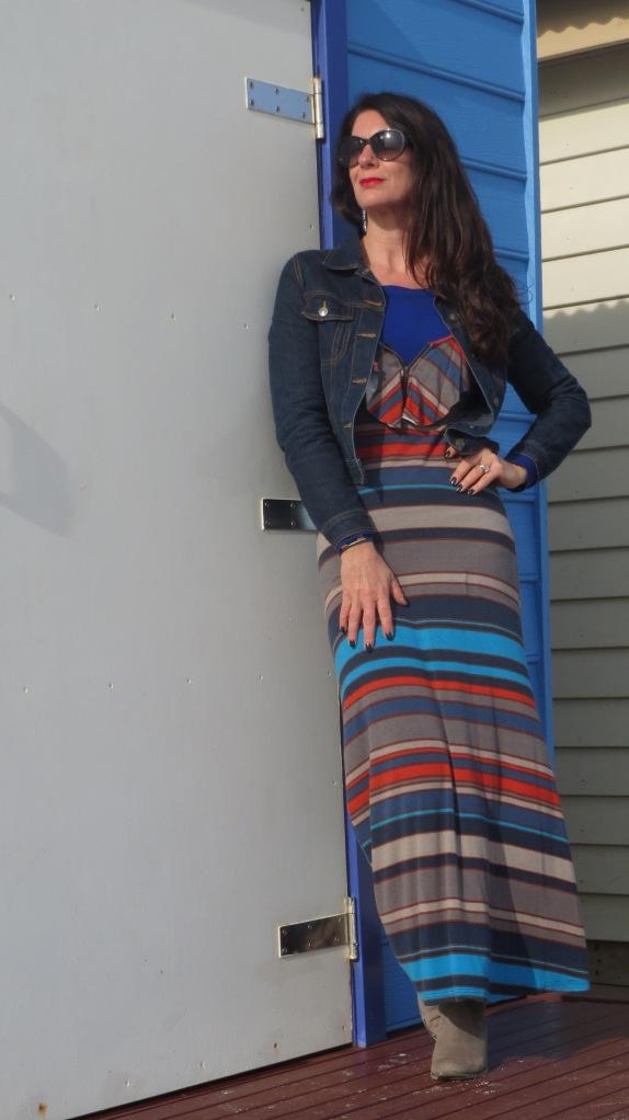 Striped maxi dress 3