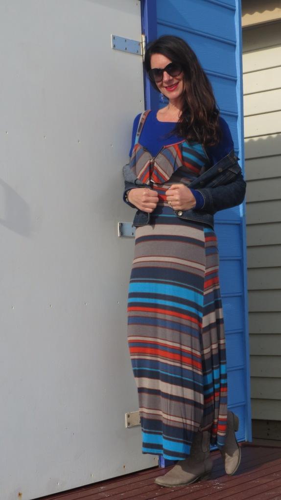 Striped maxi dress 4