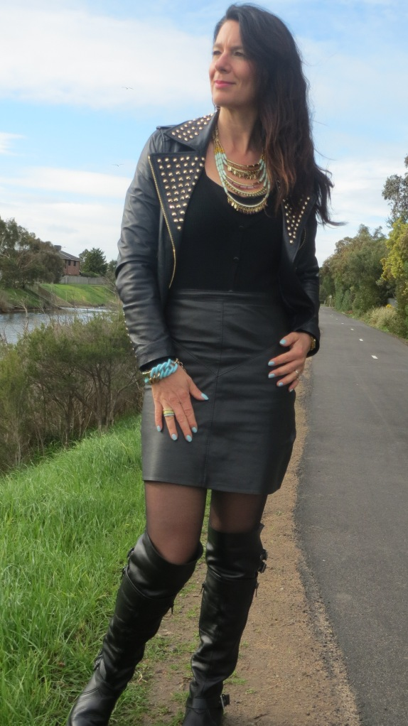 Black, aqua jewellery 2