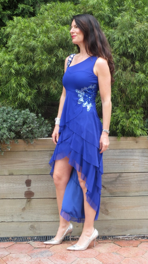 Blue bling dress 2