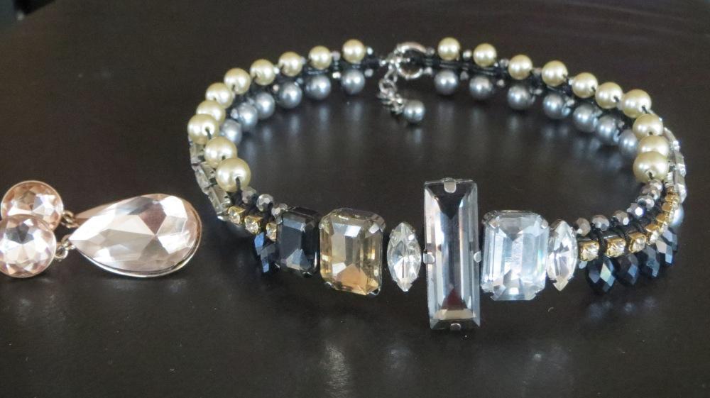 Diamand & pearl necklace