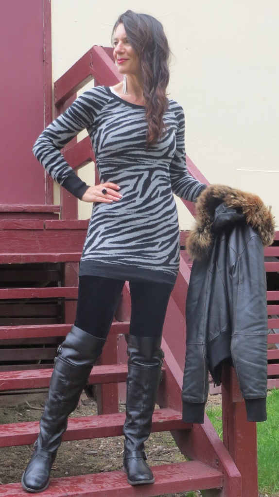 Grey zebra dress 1