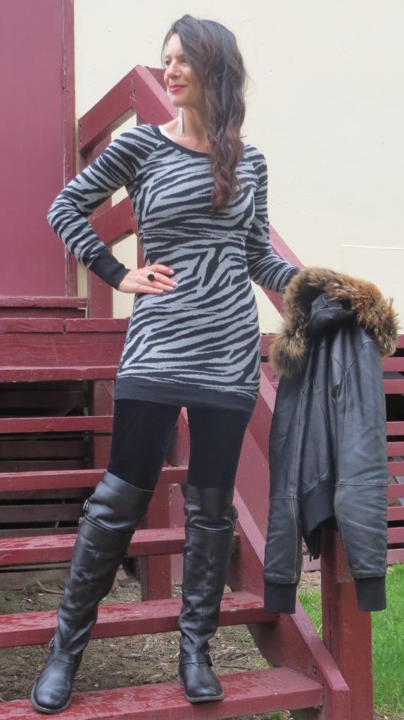 Grey zebra dress 1