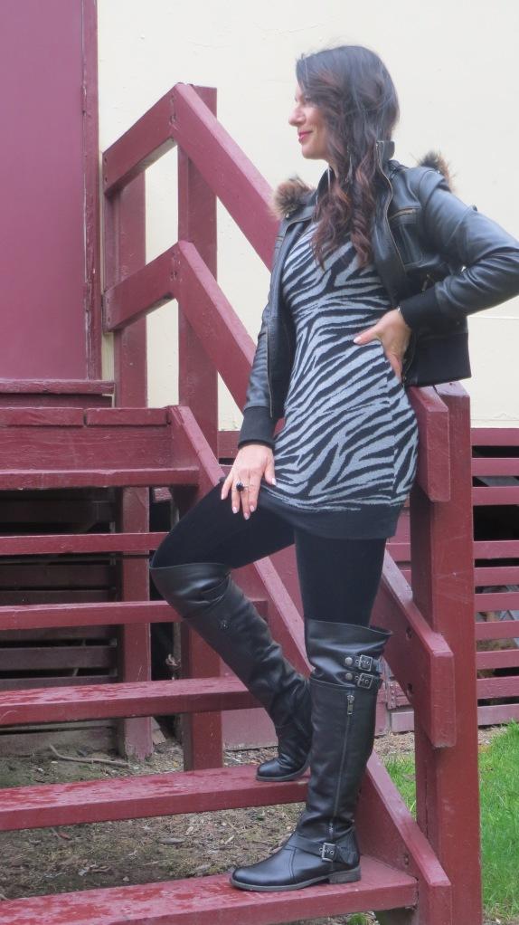 Grey zebra dress 2