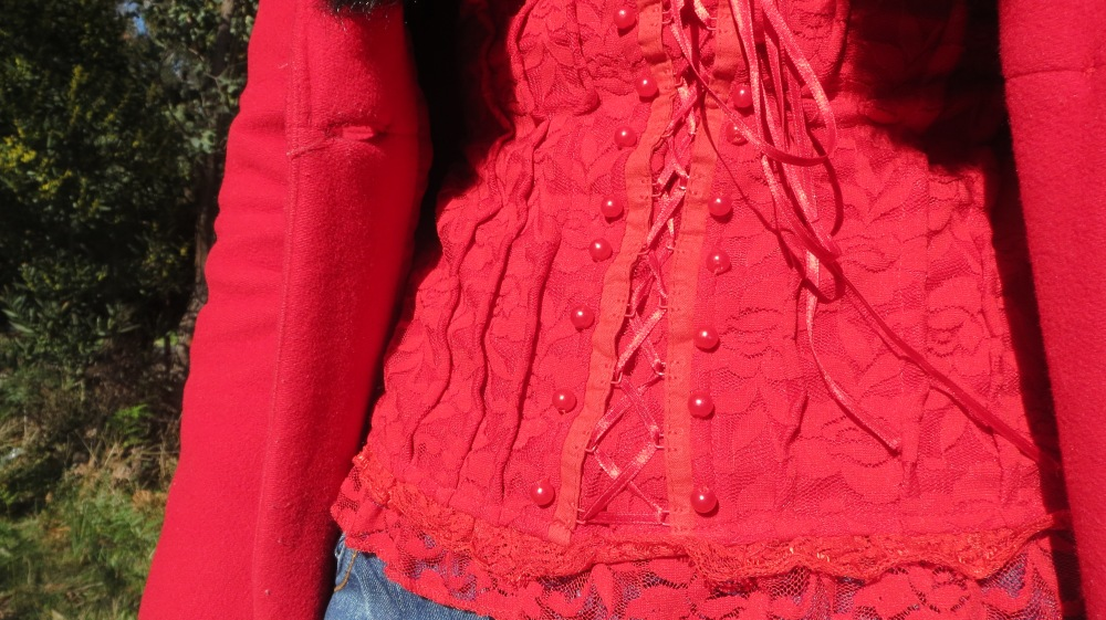 Red lace corset 4