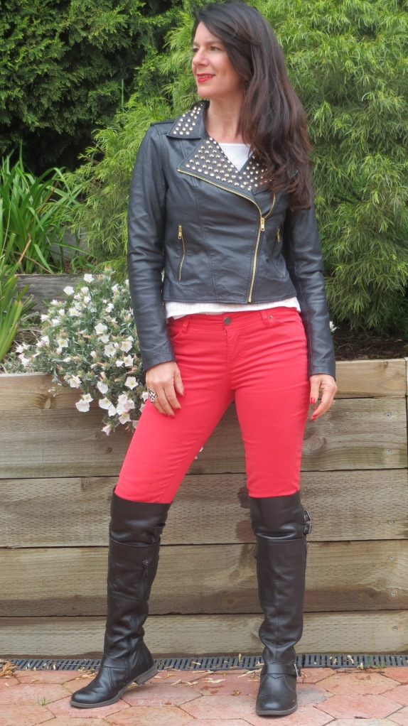 Red jeans 4