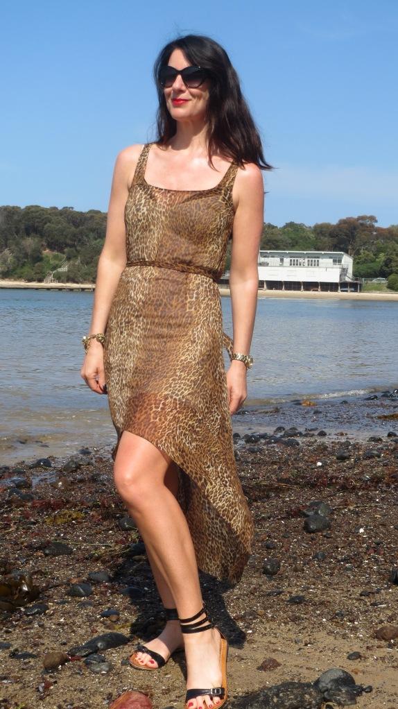 Sheer leopard dress 1