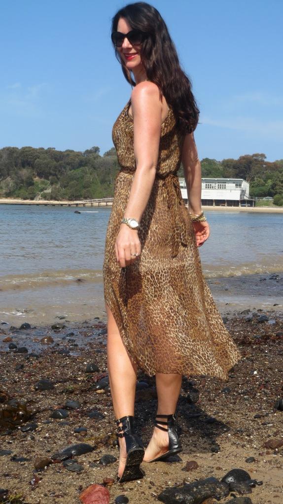 Sheer leopard dress 3