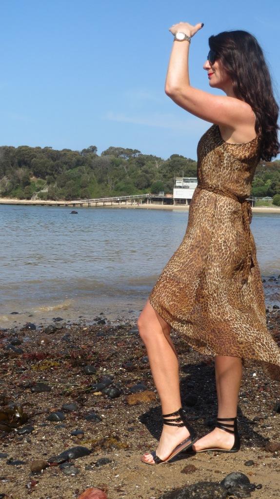 Sheer leopard dress 4